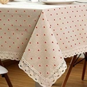 Other - Heart print tablecloth